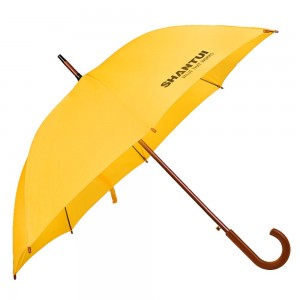 Зонт-трость Unit Standard, желтый с логотипом