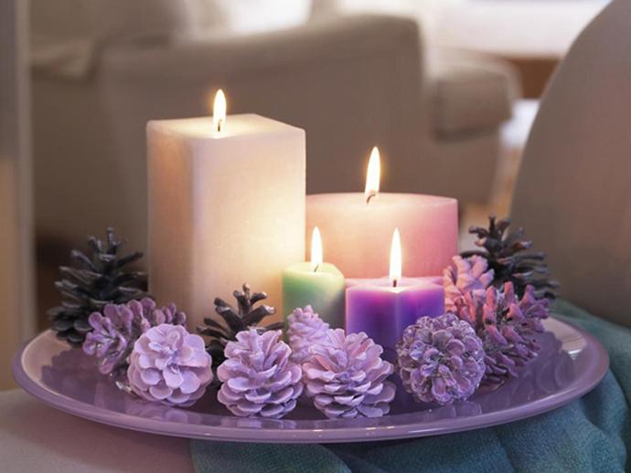 Украшение из свечей своими руками фото